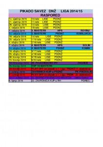 RASPORED 2014-15